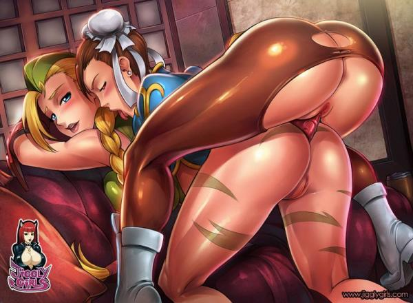 Street fighter chun li and cammy lesbian hentai